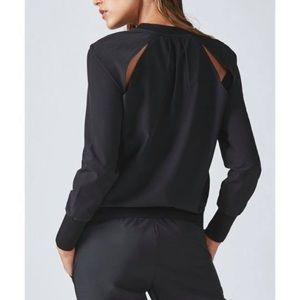Fabletics Black Lola long sleeve pullover medium